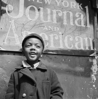 to locate this image on the American Memory website use search terms HARLEM and NEWSBOY